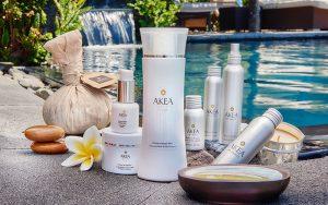 Produits de soins de la gamme Akéa