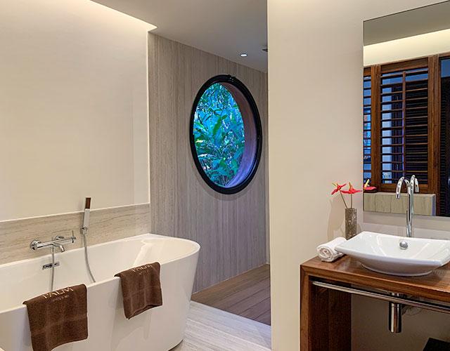Salle de bain du Lodge