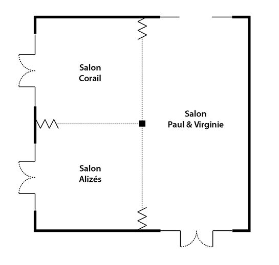 Plan des salons